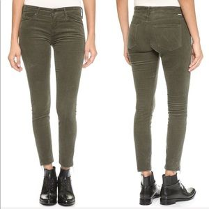 • MOTHER • Looker Ankle Fray Cords Military Green